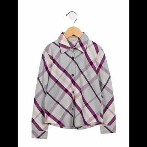 Burberry Button Up Top 6Y